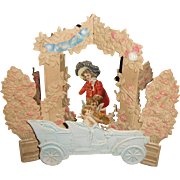 Fabulous Antique German Diecut STAND UP POP UP Cupids Valentine Day Card - Very Rare - Perfect