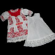 Vintage Artist Jumeau Dress and Slip