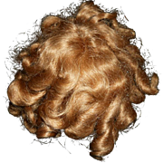 Vintage Shirley Temple Style Human and Synthetic hair doll wig