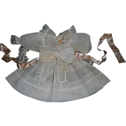 Vintage Artist Made Sheer Peach Chiffon Doll Dress