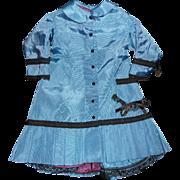 SALE PENDING Blue Silky Doll Dress Jacket