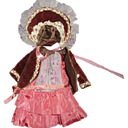 Vintage Artisan Made Doll Outfit with Bonnet