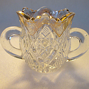 EAPG US Glass Minnesota Pattern Three Handled Toothpick Holder