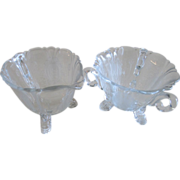 Heisey Empress Minuet (dolphin footed) Cream and Sugar