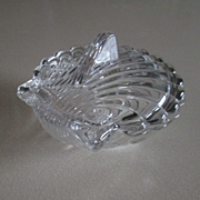 REDUCED Heisey Crystolite Shell Candy Dish with Lid