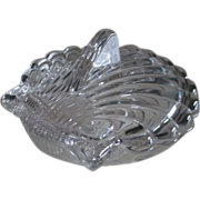 SALE Heisey Crystolite Shell Candy Dish with Lid