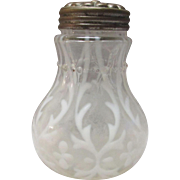 SOLD Northwood Spanish Lace Clear Opalescent Salt Shaker