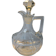 Heisey Tudor (Rib and Panel) Oil/Cruet with Stopper