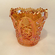 SALE Imperial Glass Daisy & Button – Marigold Carnival Toothpick Holder