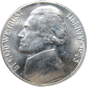 1943 D Jefferson Wartime Silver Alloy Nickel