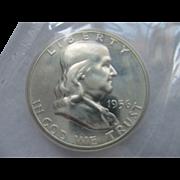 SOLD 1956 Proof Franklin Silver Half Dollar