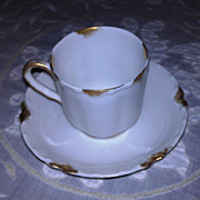 REDUCED Haviland Limoges Demitasse Cup and Saucer