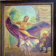 REDUCED A Dance of Mexico by listed California Artist Tess Razalle Carter