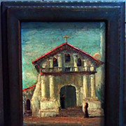 SALE Mission San Francisco de Asis Oil on Canvass Board By Tess Razalle Carter
