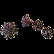 SALE Beautiful  Victorian Bohemian Garnet Collection *January Birthstone*