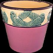 Czechoslovakian Art Pottery Jardiniere Art Nouveau