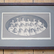 Framed 1913 Group Photograph of Young Ladies