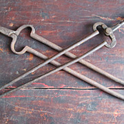 Antique Iron Fireplace Tongs