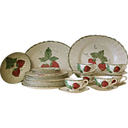 "SOLD Group of Blue Ridge Dinnerware, ""Wild Strawberry"", 27 pieces"