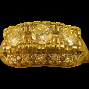 14K White Gold ~ DIAMOND COCKTAIL RING ~ Size 6-3/4