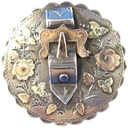 Victorian Sterling ~ 1891 BUCKLE BROOCH ~ Chester Silver Pin