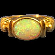 14K Gold  ~ VINTAGE OPAL RING ~  Size 5-1/2