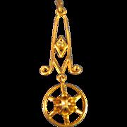 14k Gold  ~ PETITE DIAMOND LAVALIER ~  Pendant