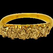 14K Gold   ~ 5 DIAMOND BAND RING ~   1.25 CTTW Size 11-1/2