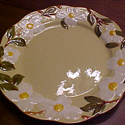 REDUCED Vintage Hand Painted Stangl White Dogwood Pottery Chop Plate