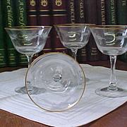 REDUCED Fostoria Sunglow Sherbet/Champagne Stems