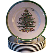 "REDUCED Spode Christmas Tree 7 ¾"" Plates"