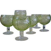 REDUCED Mid-Century Cabbage Green 20 0z Goblets for SECLA Pottery