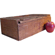 REDUCED Rare 1930s Wooden Planters Chocolate and Nut Factory Box
