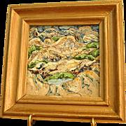 Enamel on Copper Framed Art