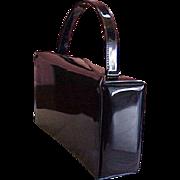 REDUCED Vintage Crown Lewis Black Patent Purse