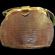 Wonderful Lizard Handbag from 1950-60s
