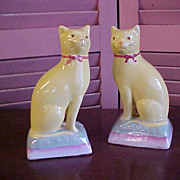 REDUCED Charming Pair of Yellow Cats