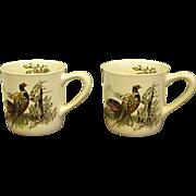 Johnson Brothers Game Birds Pheasant Mugs Set of 2