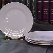 REDUCED Elegant Wedgwood Silver Ermine Bread Plates