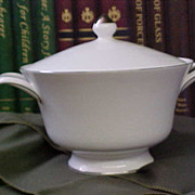 REDUCED Elegant Wedgwood Silver Ermine Covered Vegetable Bowl