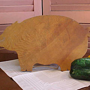 REDUCED Cute Rustic Pig Cutting Board