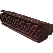 REDUCED Primitive Carved Wood Block Textile Stamp/Stencil