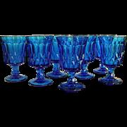 Noritake Blue Perspective Iced Tea Stems Set of 7