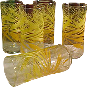 REDUCED 1960s Harvest Color Tumblers