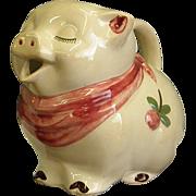 Shawnee Smiley Cloverbud Pig Water/Milk Pitcher 1940-50s
