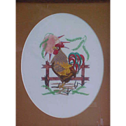 SALE Whimsical Rooster Needlework