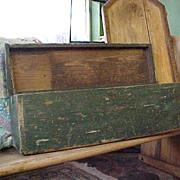 REDUCED Wonderful Handmade Rustic Green Box