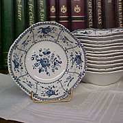 REDUCED Vintage Johnson Brothers Blue Indies Square Soup/Cereal Bowls