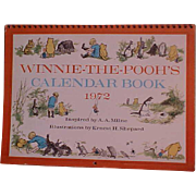 REDUCED Vintage Winnie-the-Pooh Calendar Book on Heavy Cardstock