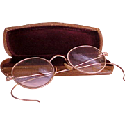 SOLD Great-Grandma's Gold Filled Wire Rimmed Eye Glasses